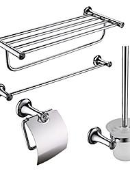 abordables -4-emballé baignoire en acier inoxydable Set accessoires, porte-serviettes / salle de bains plateau / Papier Holder / pinceau
