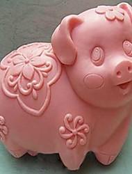 svin formet bage skimmel, w9cm x 18cm x h3.8cm \ bakewares køkken& spisning