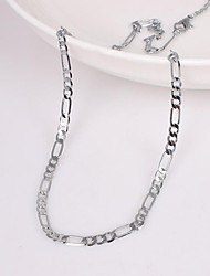 cheap -Men's Chain Necklace - Unique Design / Fashion Silver Necklace For Wedding / Party / Gift / Men's