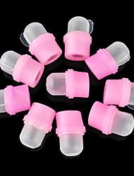10PCS Rubber Polsk Gel Fjernelse fingerbeskyttelse Nail Kits