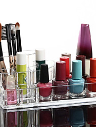 billiga -Sminkredskap Kosmetika förvaring borttagbara Drawears / 2 Lager / Våningar Smink 1 pcs Akrylfiber / Plast Kvadrat Dagligen Kosmetisk Skötselprodukter