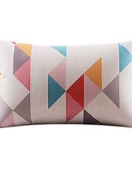 Baumwolle/Leinen Kissenbezug , Geometrisch Modern/Zeitgenössisch