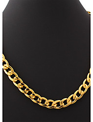 cheap -U7® Big Size Men's 18K Chunky Gold Filled Hiphop Link Chains Necklace 11MM 55CM Jewelry