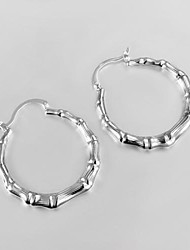 Hoop Earrings Costume Jewelry Zircon Silver Plated Jewelry For Daily