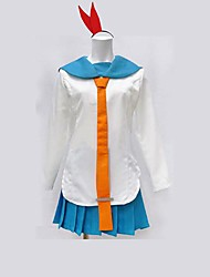 cheap -Inspired by Nisekoi Kirisaki Chitoge Anime Cosplay Costumes Cosplay Suits Patchwork Long Sleeve Top / Skirt For Women's Halloween Costumes