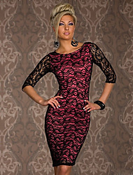 Vivienne Kvinder Eurorean Style Sexy Packet Hip Lace Dress