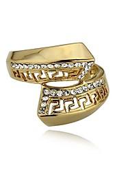 Anéis Casamento / Pesta / Diário Jóias Chapeado Dourado Anéis Grossos7 / 8 / 10 / 9½ Dourado