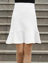 povoljno -Žene A kroj Classic & Timeless Suknje - Jednobojni