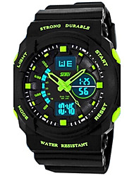 cheap -SKMEI Men's Sport Watch Alarm / Calendar / date / day / Water Resistant / Water Proof Rubber Band Black