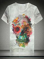 Недорогие -Мужская Лето печати Короткие рукава футболки
