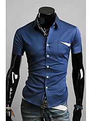 Shirt coreano Slim Fit manica corta da uomo DDMEN
