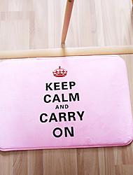 """Bath Mat Modern Memory Foam Keep Calm W16"""" x L24""""- 4 Colours Available"""
