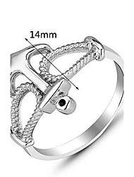 cheap -Genuine 925 Sterling Silver Fashion Brand Designer Jewelry Finger Silver Anchor Rings