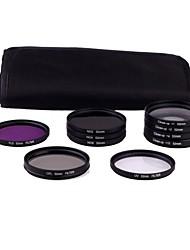 cheap -52mm 10pcs UV FLD CPL ND2/4/8 FILTER Set for CAMERA Nikon D3100 D5000 D5100 Canon 450D 500D DSLR