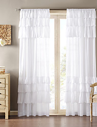 cheap -One Panel Curtain Country Solid Living Room Polyester Material Curtains Drapes Home Decoration