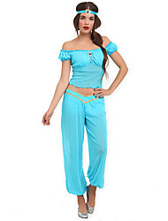 Cosplay Costumes / Party Costume Princess Jasmine Lake Blue Polyester Women's Halloween Costume