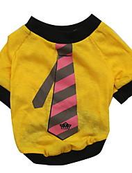 preiswerte -Hund T-shirt Hundekleidung Schwarz Purpur Gelb Braun Rot Baumwolle Kostüm Für Haustiere