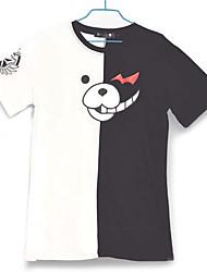 Недорогие -Вдохновлен Dangan Ronpa Monokuma видео Игра Косплэй костюмы Косплей футболка Контрастных цветов Белый / Черный Короткие Как у футболки