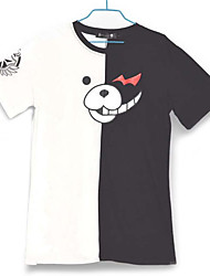 Inspirado por Dangan Ronpa Monokuma Vídeo Jogo Fantasias de Cosplay Cosplay T-shirt Color Block Branco / Preto Manga Curta Japonesa/Curta