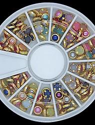 100pcs colorato perla unghia ruota lipping decorazione in metallo arte