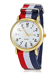 cheap -Women's Wrist Watch Quartz Sport Watch Fabric Band Analog Charm Casual Multi-Colored - Green Blue Navy