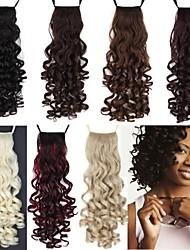 abordables -Excelente calidad sintético 100g 18 pulgadas Tornillo Largo Curly Ribbon Ponytail del Hairpiece - 7 colores disponibles