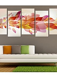 cheap -Stretched Canvas Print Canvas Set Abstract Fantasy Five Panels Vertical Print Wall Decor Home Decoration