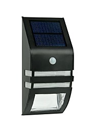 cheap -2-LED Warm White Stainless Steel Solar Wall Light With PIR Motion Sensor