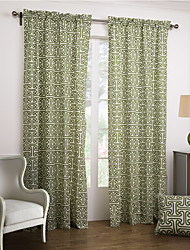 cheap -Two Panels Curtain Modern , Novelty Bedroom Cotton Material Curtains Drapes Home Decoration For Window