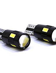 T10 2W 6SMD5630 White Led Car Bulb For Canbus DC12V (A pair)