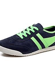 povoljno -Muškarci Cipele Koža Proljeće Ljeto Jesen Udobne cipele Hodanje Ravna potpetica za Kauzalni Crna Crvena Plava