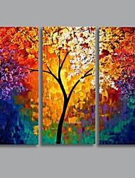 Hand-Painted Landscape Horizontal Three Panels Canvas Oil Painting For Home Decoration