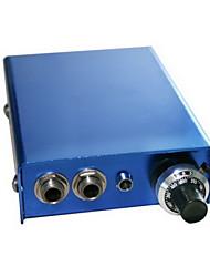 abordables -Aluminium Alloy Fine Tuning Tattoo Power Supply Blue