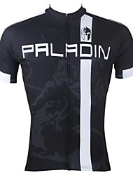 ILPALADINO Cycling Jersey Men's Short Sleeves Bike Jersey Tops Quick Dry Ultraviolet Resistant Breathable 100% Polyester Stripe Patchwork
