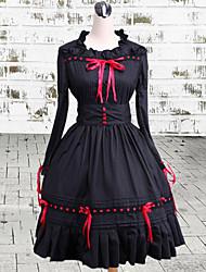 cheap -Gothic Lolita Dress Vintage Inspired Women's Dress Cosplay Long Sleeve Medium Length Halloween Costumes