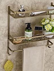 abordables -Laiton Finition Laiton antique Tablettes Matériau de salle de bain