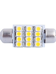 36mm 3W 150LM 3000K 12x3528SMD Warm White LED for Car Reading/License Plate/Door Lamp (DC12V,1Pcs)
