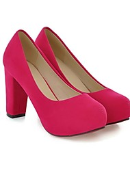 povoljno -Žene Cipele Umjetna koža Proljeće Ljeto Kockasta potpetica za Kauzalni Crna Crvena Plava Bež Zelena