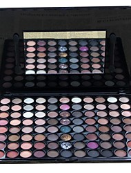 88 Lidschattenpalette Trocken / Matt / Schimmer / Mineral Lidschatten-Palette Puder Groß Smokey Makeup / Party Make-up