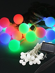 20-LED Solar Power Ball Shape Fairy String Light Lamp Bulb 9M For Decor