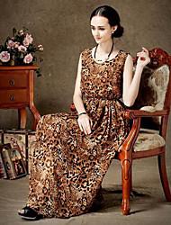 economico -TS Sexy Leopard Print Maxi Dress