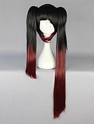 Недорогие -Косплэй парики Date A Live Kurumi Tokisaki Аниме Косплэй парики 80 См Термостойкое волокно Жен.