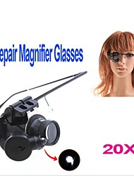 cheap -ZW-9882-2 Eyewear Style Single 20X Magnifier with White LED Light (2 x CR1620)