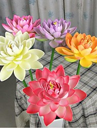 cheap -27 cm Diameter Simulation Open Lotus Flower with Stem