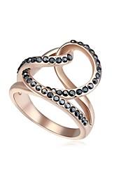 18KRGP perline di cristallo anello dichiarazione d'amore magico delle donne (più colori) (1 pc)