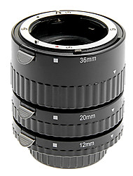 alliage d'aluminium de 3 morceaux de tube d'extension macro pour Nikon (argent)
