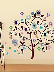 Createforlife ® Boa Flor Árvores berçário dos miúdos quarto adesivos de parede arte da parede decalques
