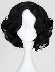 cheap -Princess Snow Fairytale Princess Synthetic Short Black Curly Halloween Wig Cosplay Wig