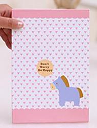 1 pc grandi dimensioni e Portable Cartoon carta pieghevole pacchetto Principessa Specchio