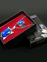cheap -Jewelry Inspired by Black Butler Ciel Phantomhive Anime Cosplay Accessories Necklace / Ring White Artificial Gemstones Male